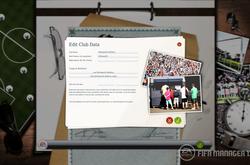 Редактируйте клубные данные. Вы можете дать название новому клубу и как оно будет отображаться в игре, как болельщики будут называть команду и т.д.